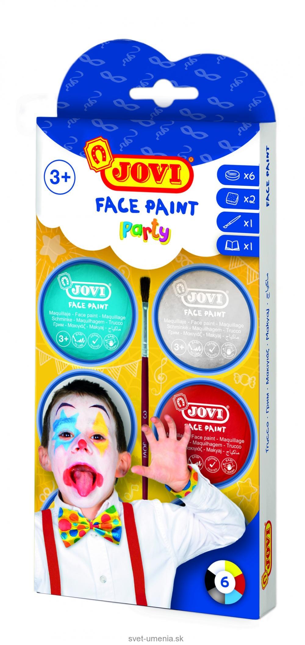cb3d15888 JOVI Farby na tvár 6x8 ml - party | SVET UMENIA