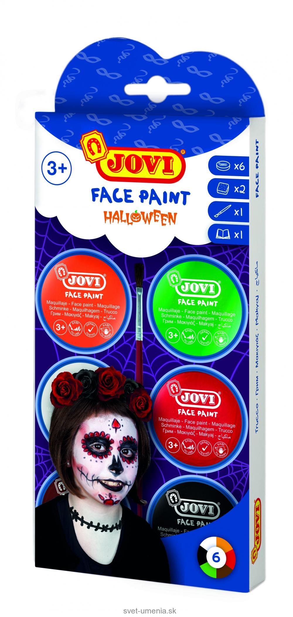 8c16617f5 JOVI Farby na tvár 6x8 ml - halloween | SVET UMENIA