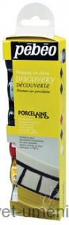 Farby Pebeo Porcelaine 150 na porcelán, 6 x 20 ml