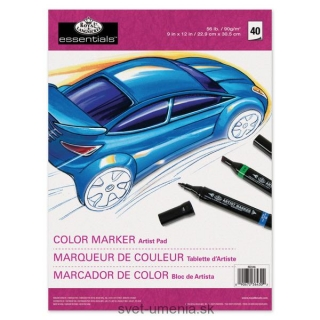 Color Marker Pad A4 - 40 listov
