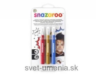 6aca5b93b Snazaroo - štetce naplnené farbou Dobrodružstvo, 3ks empty