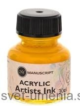 Atrament Manuscript, 30 ml - žltá