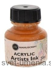 Atrament Manuscript, 30 ml - zlatá