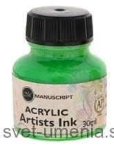 Atrament Manuscript, 30 ml - zelená