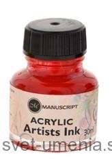 Atrament Manuscript, 30 ml - červená